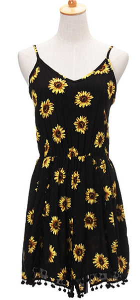 Sunflower Magic Casual Cozy Rompers