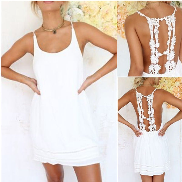 Backless Sleeveless Mini Dress