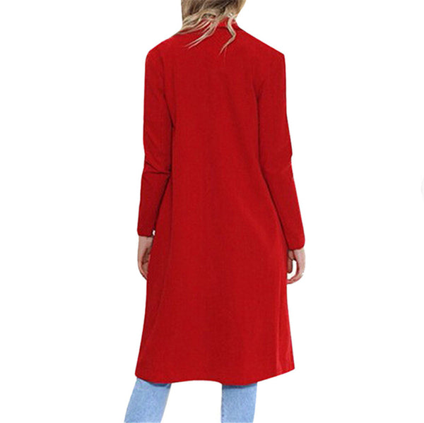 Trendy Trench Wool Blend Winter Coat