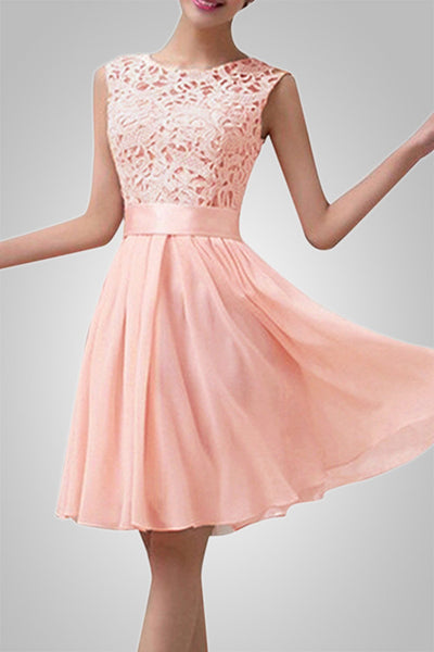 Prom Night Crochet Chiffon Dress