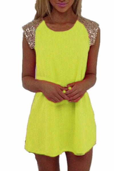 Sequin Magic Short Sleeve Party Dress