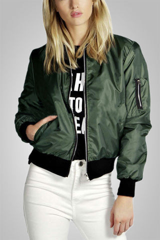 Celeb Bomber Long Sleeve Jacket?