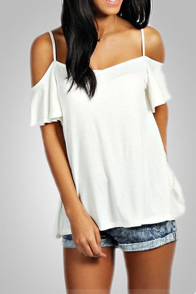 Slash Neck Off Shoulder Top