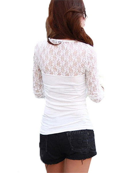 Lacy Lace Long Sleeve Top
