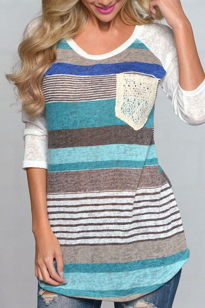 Impressive Me Colorful Stripped Top