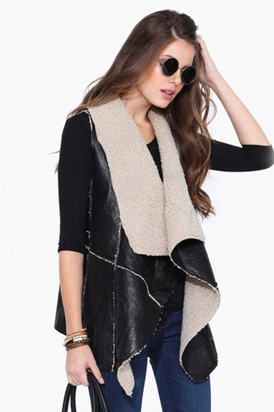 Furry Love Leather Casual Jacket
