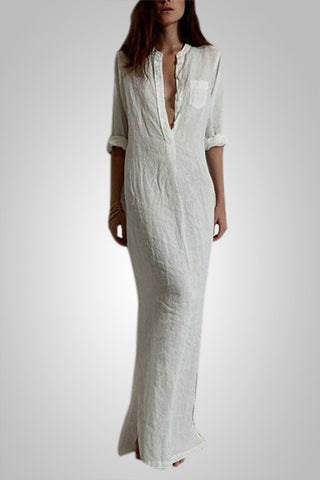 Solid Long Maxi Dress