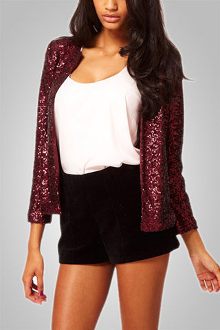 All over Sequin Glitter Coat