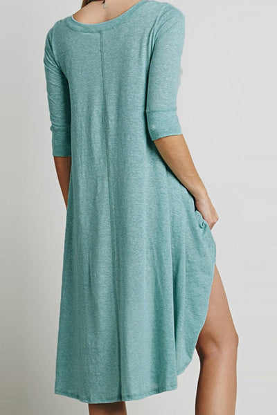 Loose Long High Low Dress