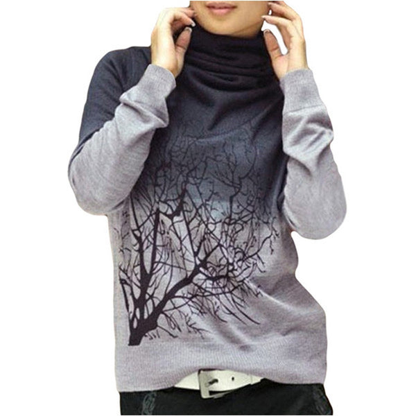 Branch Printed Knitted Sweater