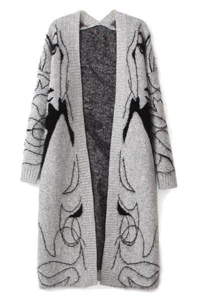 Girl Printed Elegant Cardigan