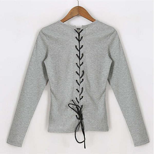 Lace Up Back Slim Top