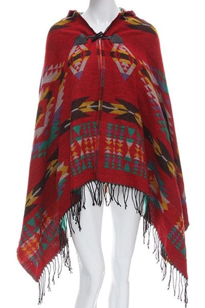 The Multitasker Ethnic Hooded Scarf