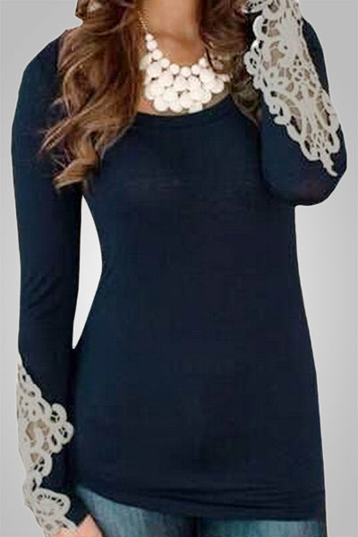 Elegant Embroidered Knitted Slim Top