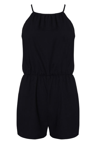 Playful Short Chiffon Sleeveless Jumpsuit