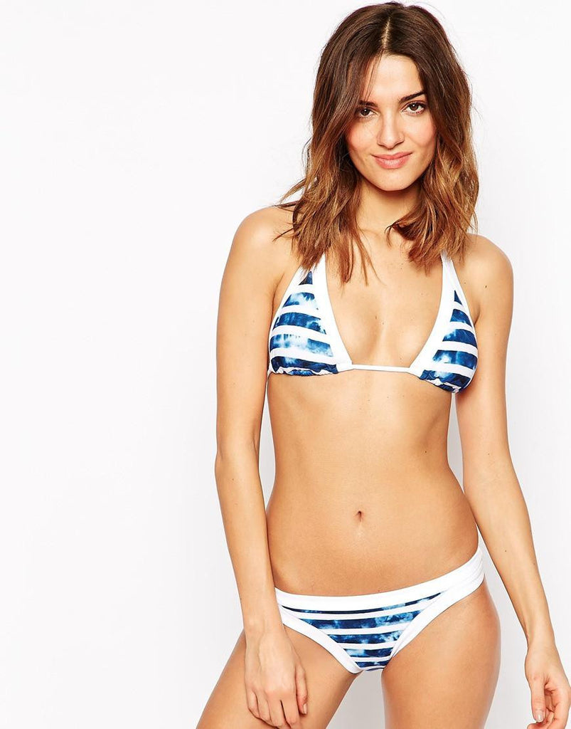 Get personalized with this nautical blue bikini