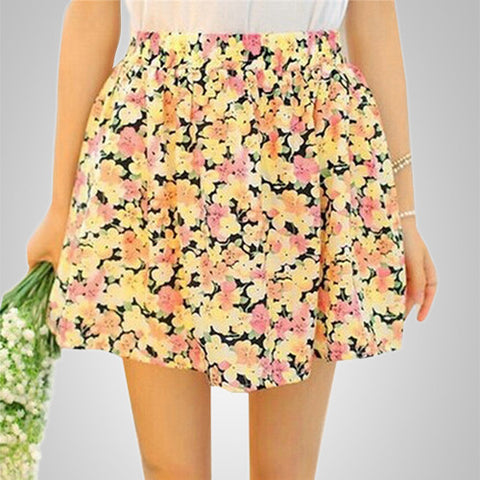 Peppy Floral Pleated Smart Skirt