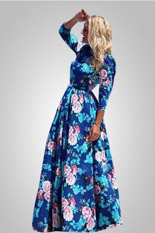 Flower Paradise Long Fashionable Dress