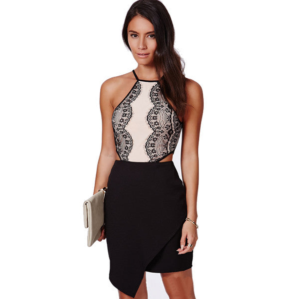 Lovely You Halter Neck Short Dress