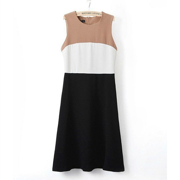 Euro Fashion Sleeveless Sexy Straight Summer Dress
