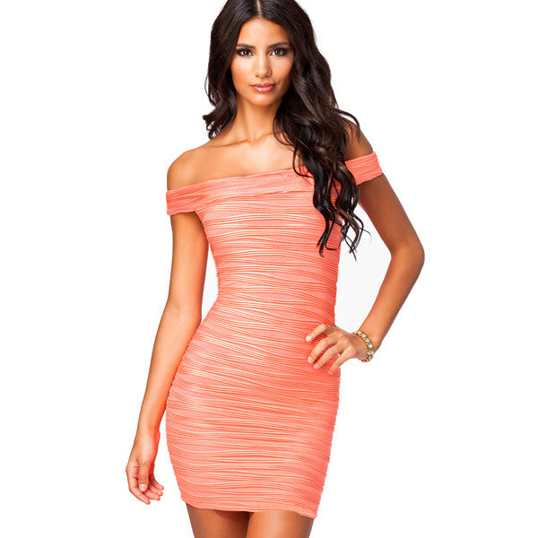 Shoulder Bodycon Euro Styled Women Clubwear