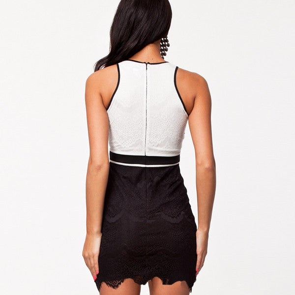 Sleeveless Hip Hop Bodycon Dress