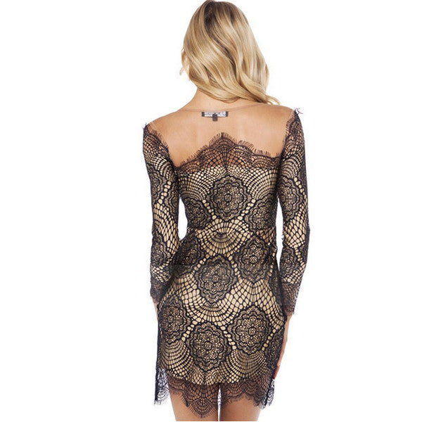 Slim Lacy Sexy Bodycon Autumn Dress