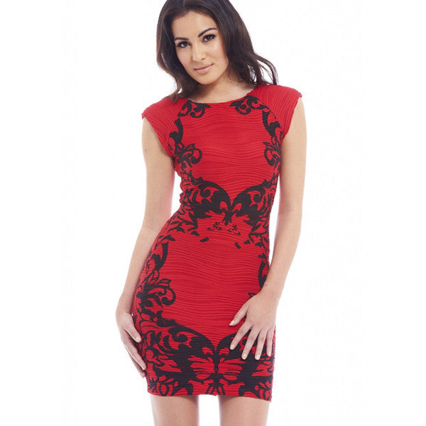 Printed Vintage Styled Casual Sexy Women Dress