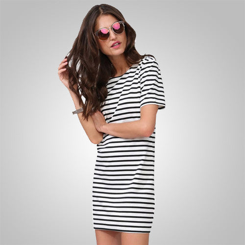 Amazing Black & White Strips Straight Women's Costume