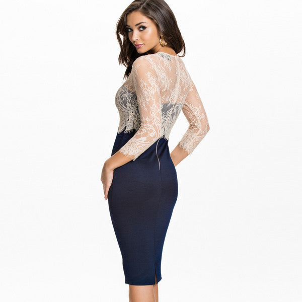 Sexy Mesh Multi-Usages Hollow Out Party Dresses