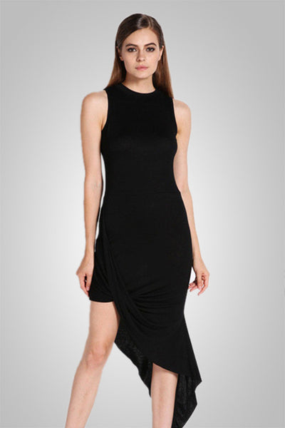 Slim Asymmetry Sexy Summer Evening Party Dresses