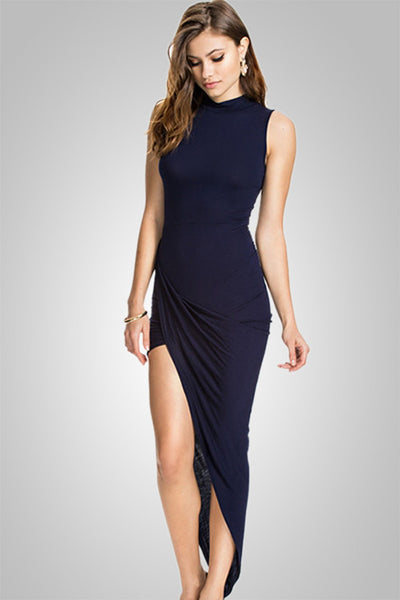Celebrity Elegant Women Asymmetrical Dress for Party Evening