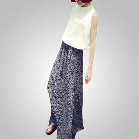 Retro Stylish Slit Maxi Skirt