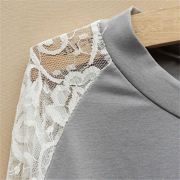 All Lacy Affair CasualPatchwork Top