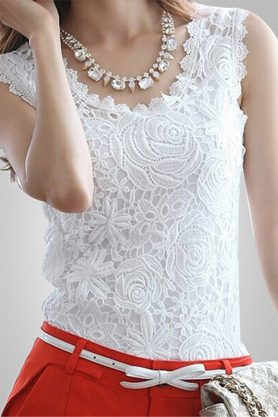 Lacy Affair Slim Fashionable Top