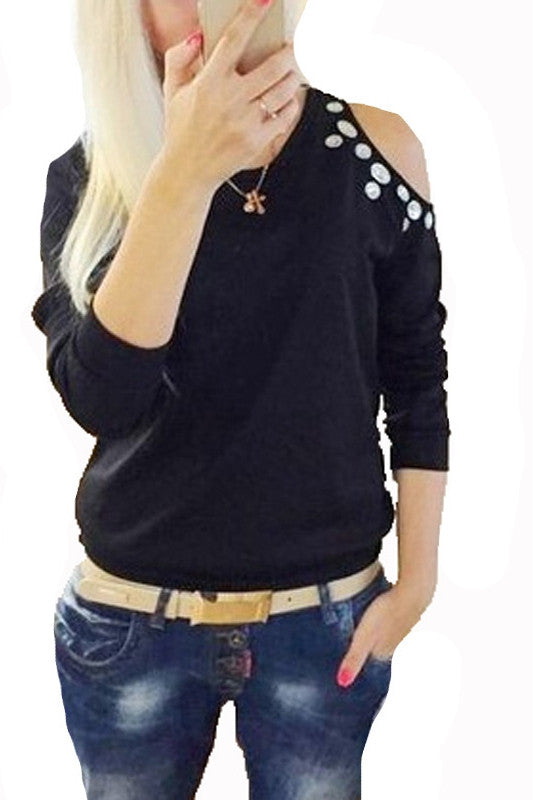 Outrageous Off-Shoulder Long Sleeve Blouse