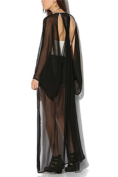 Going With The Flow Chiffon Sexy Maxi