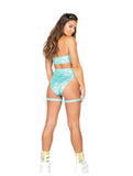 Roma Rave 3842 - Crop Top with Underboob Cutout-Rave Tops-Roma-Unspoken Fashion