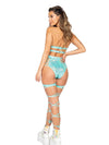 Roma Rave 3845 - Strappy High-Waisted Shorts-Rave Shorts-Roma-Unspoken Fashion