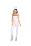 Roma 4969 - 3pc Naughty Unicorn Costume-Costumes-Roma-Small-White/Multi-Unspoken Fashion