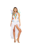 Roma 4970 - 2pc Glamorous Dragon Costume-Costumes-Roma-Small-White/Multi-Unspoken Fashion