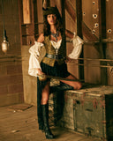 Roma 4980 - 6pc Pirate Queen Costume Costume-Costumes-Roma-Unspoken Fashion