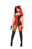 Roma 4987 - 3pc Violent Vixen Costume