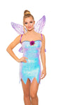 Roma 5010 - 2pc Twinkle Fairy Dust Costume-Costumes-Roma-Small-Purple-Unspoken Fashion
