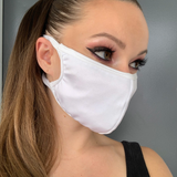 White Lycra Face Mask - Roma M116