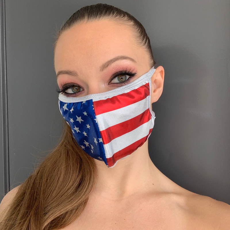 American Flag Face Mask -Roma M109-Face Masks-Roma-One Size-American Flag-Unspoken Fashion