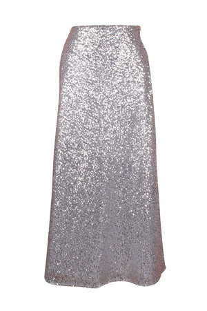 Top Drawer Long Silver Sequin Skirt-Accessories-Daisy Corsets-6X-Unspoken Fashion