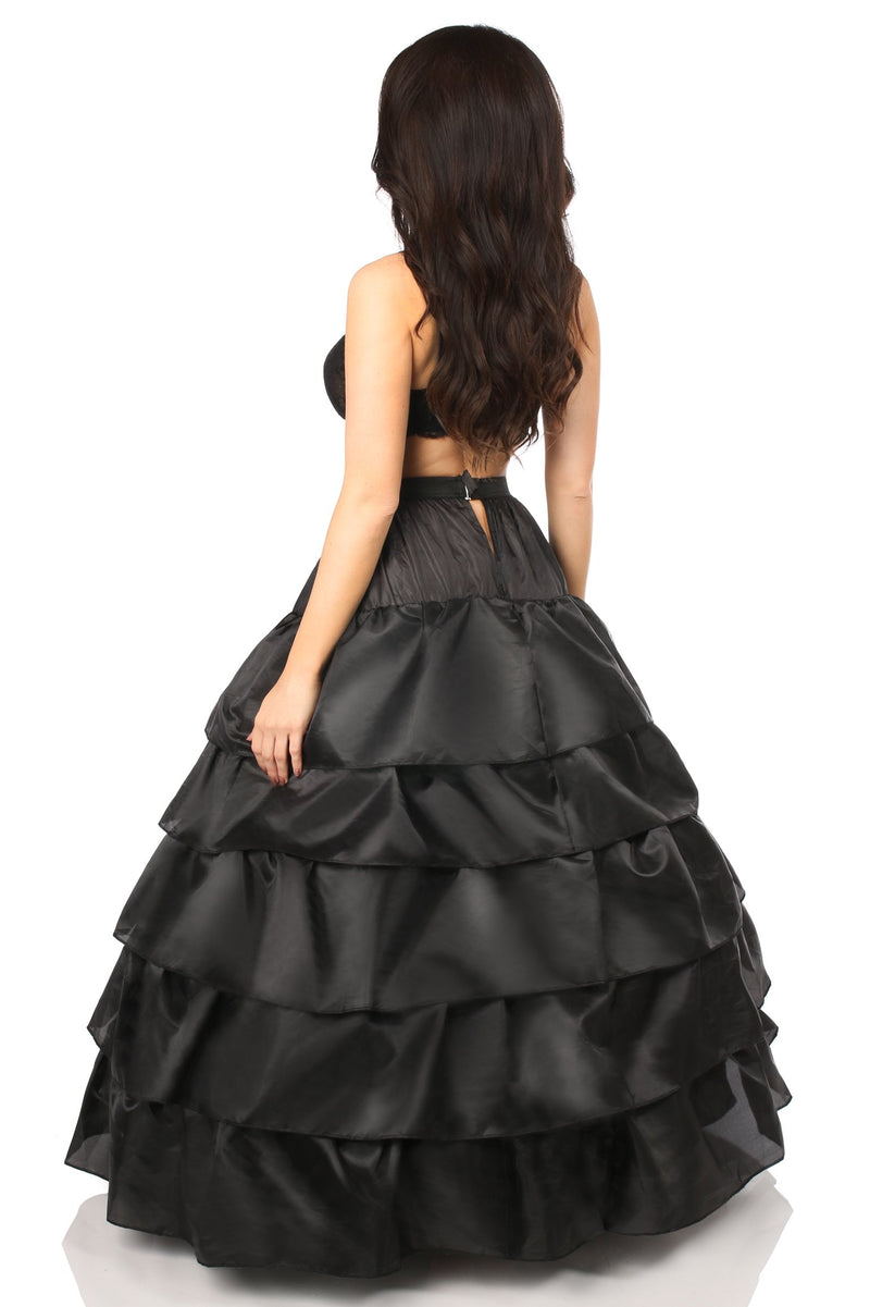 Black Hoop Skirt-Accessories-Daisy Corsets-OneSize-Unspoken Fashion