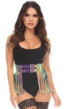 Load image into Gallery viewer, Rainbow Holo Fringe Skirt-Body Harnesses-Daisy Corsets-Unspoken Fashion