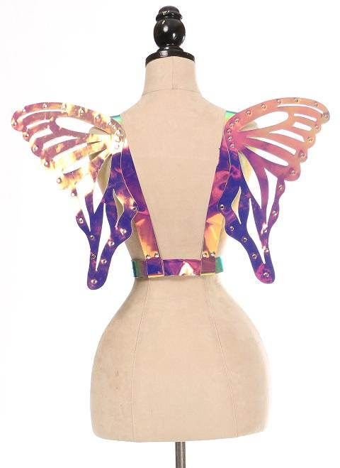 Rainbow Holo Body Harness w/Wings - Large-Body Harnesses-Daisy Corsets-Unspoken Fashion